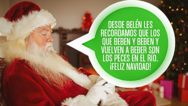 mensaje felicitación Navidad Villancico humor