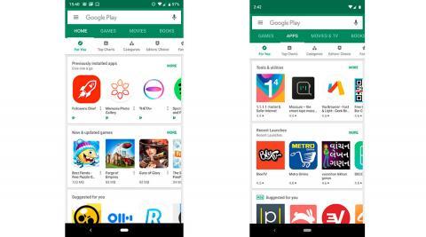 cambios google play